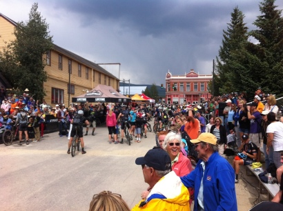 The Leadville Traill 100 Finish line.