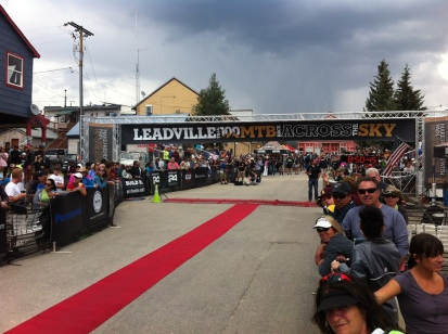 The ride to the Leadville Traill 100 Finish line. One of the greatest sights you'll ever behold.