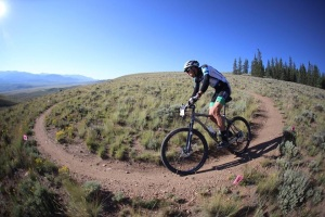 Ryan Steers races the Leadville 100 for team Pedalers Fork/10Speed Coffee