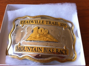 The prize: A large Leadville belt buckle.