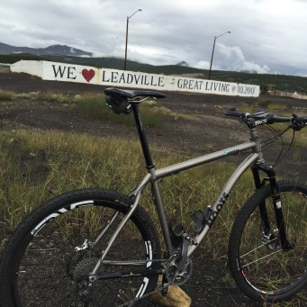 Leadville Colorado sign LT 100 Moots RSL