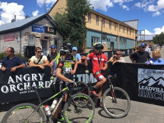 Ben and Eric Bostrom Leadville 2015 finish