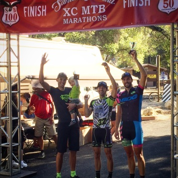 Podium Santa Barbara 100 mountain bike Ryan Steers Eric Bostrom  SBER