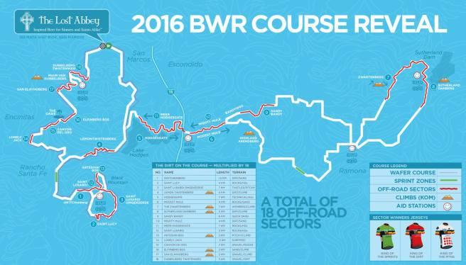 2016 Cervelo BWR Belgian Waffle Ride Course