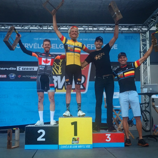 Cervelo Belgian Waffle Ride Men podium 2016 Ryan Steers Scott Lundy Josh Berry
