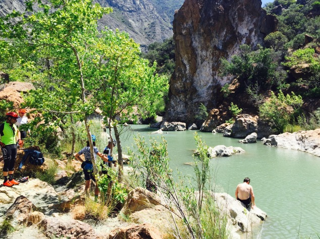 Red Rock swimming hole Santa Barbara
