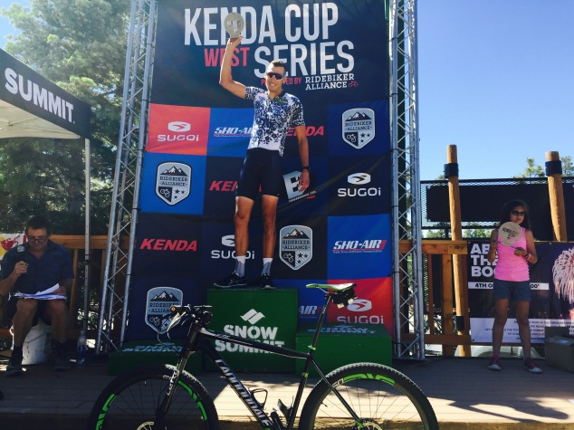 Ryan Steers Pedalers Fork 10 Speed Coffee Pro Endurance XC bike win Big Bear Kenda Cup 2016 Cannondale FSI Team