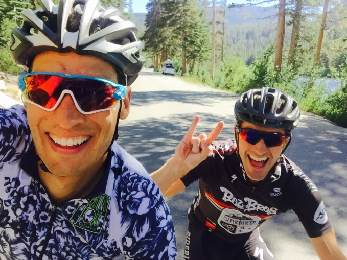 Boz Bros Eric Bostrom Ride Biker Team Ryan Steers Oakley Jawbreaker blue Pedalers Fork Alé jersey flowers