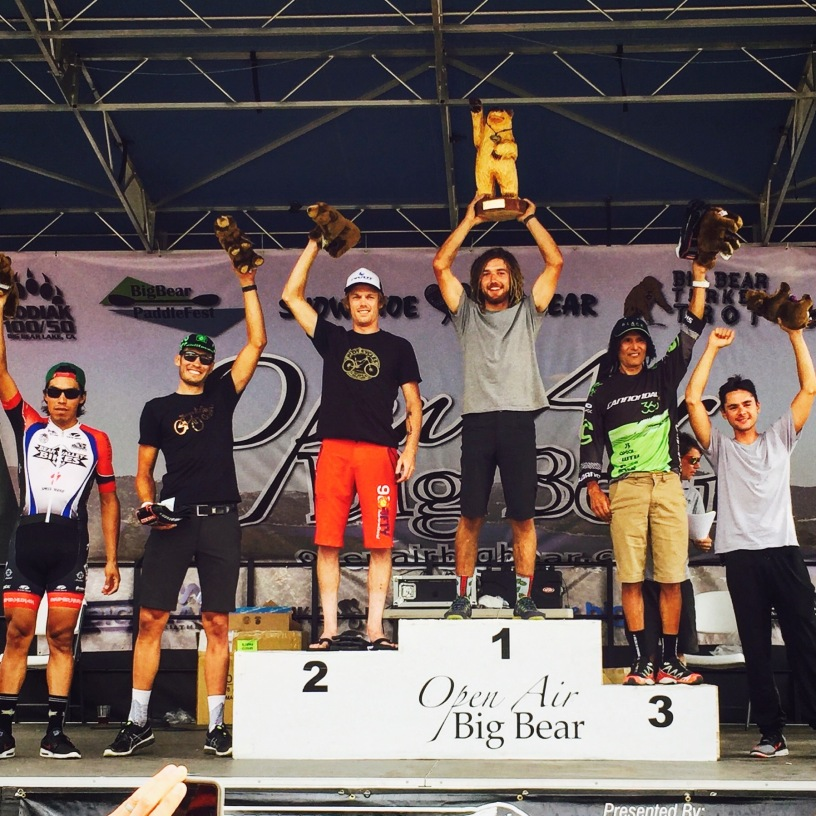 Big Bear Grizzly 100 NUE podium Men's Open Pro 100k 2016 Tinker Juarez