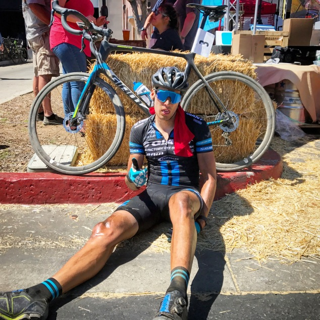 2017 Belgian Waffle Ride Finish Ryan Steers Giant