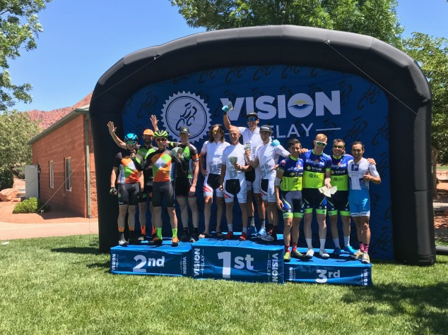 2017 Rockwell Vision Relay winners Ryan Steers Dave Zabriskie Jack Nosco Eric Bostrom St. George Utah