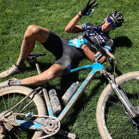 Tahoe Trail 100 bike race finish MTB Giant Ryan Steers