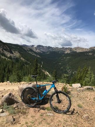 Sugarloaf climb Leadville Trail 100 MTB