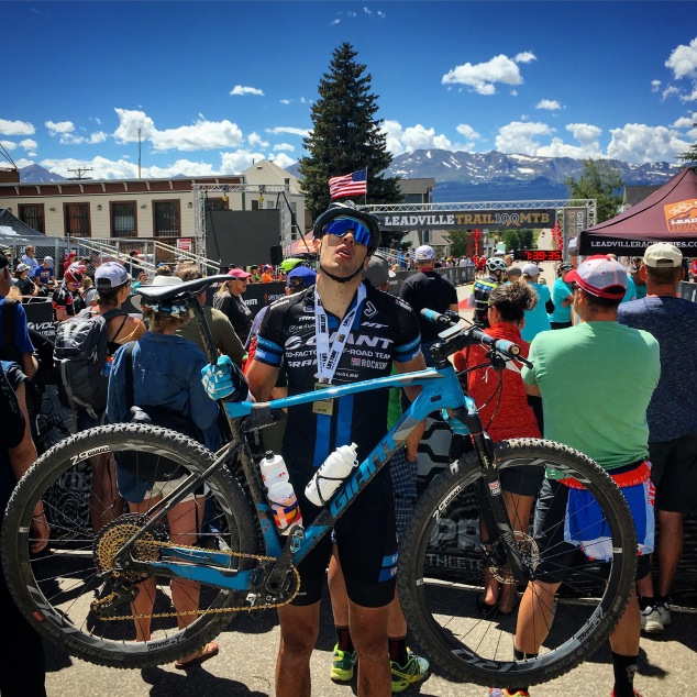 Leadville 2017 finish Giant XTC Advanced