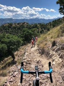 Gravel bike trail Copper Canyon Mexico Divisidero