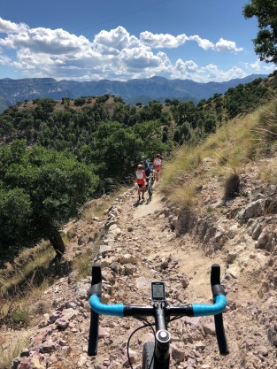 Gravel bike trail Copper Canyon Mexico Divisidero
