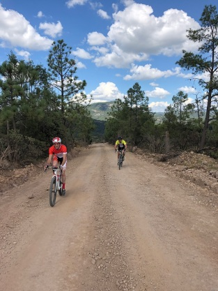 Gravel roads cycling Copper Canyon Mexico