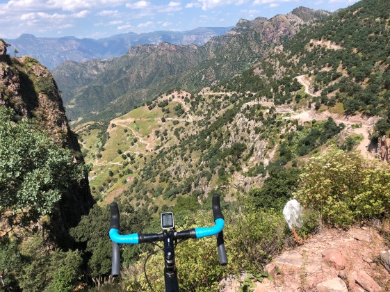 Cycling bike ride from Urique to Batopilas Copper Canyon Mexico Tarahumara