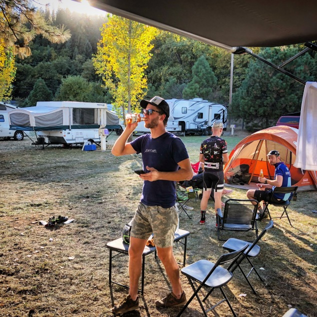Grinduro 2017 camping party